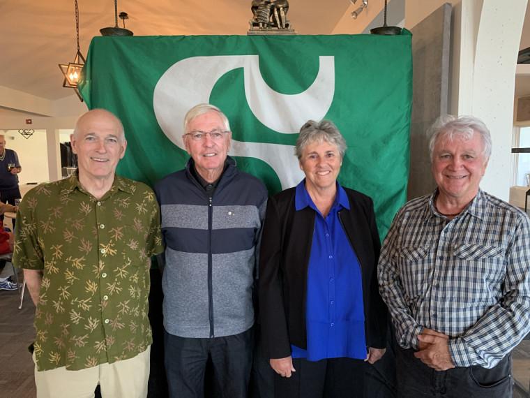 Luc Morel, ambassadeur 2003, Jean Perrault, diplômé 1969 et ambassadeur 2004, Marielle Ledoux, ambassadrice 2005 et Robert Paquin, ambassadeur 2007