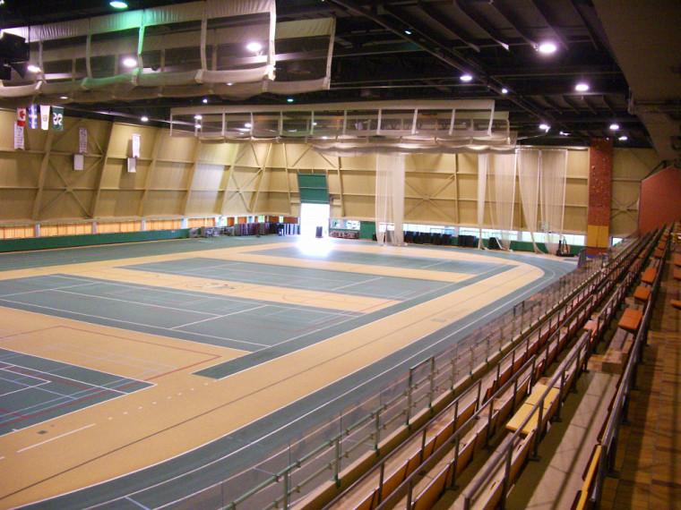 Le stade intérieur, tel que nous le connaissions avant les travaux.