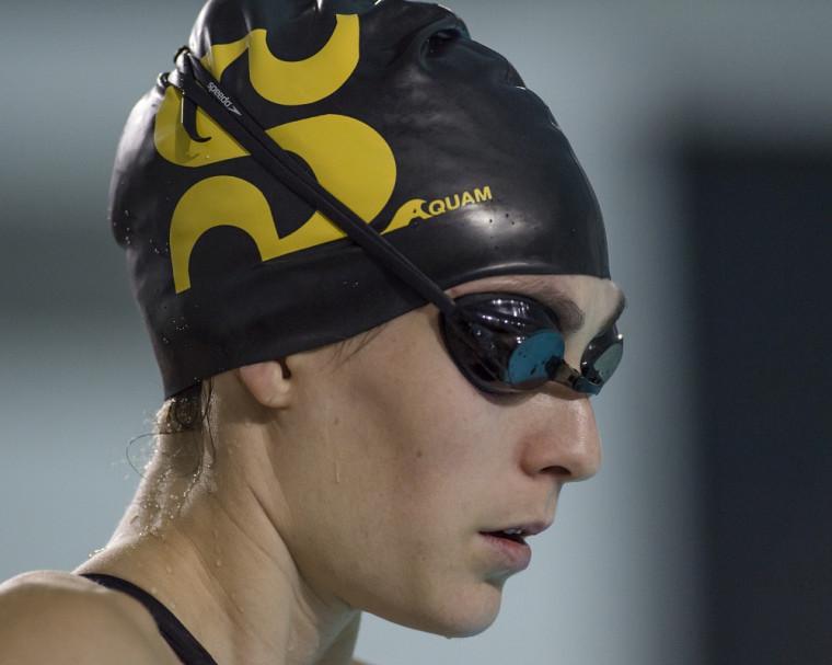 Alexandra Naisby a été la première représentante du Vert & Or cette saison à obtenir sa qualification pour le Championnat universitaire canadien 2015-2016 de natation.