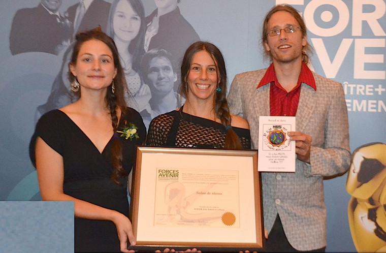 Mylène Archambault et Éliane Landriault, étudiantes en enseignement au préscolaire et au primaire, étaient finalistes grâce à leur projet Salsa de slam.