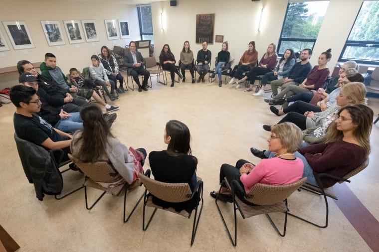 La cérémonie d'accueil des étudiants autochtones a eu lieu de 25 septembre dernier.