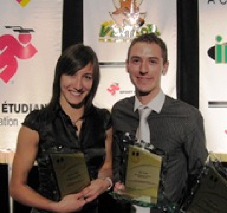 Marie-Ève Dugaset Alex Genest ontfait honneur à lafamille du Vert & Or.