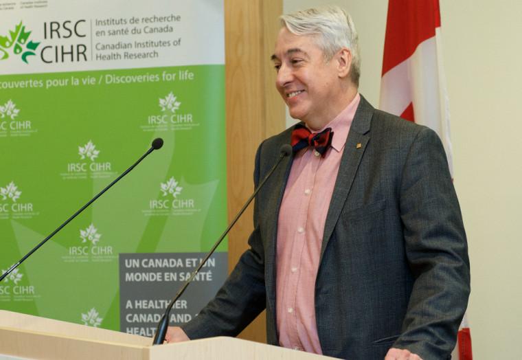 Le doyen de la Faculté de médecine et des sciences de la santé Dominique Dorion représentait l'UdeS pour l'occasion.