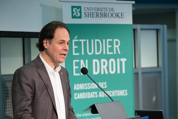 Le Pr Sébastien Lebel-Grenier, doyen de la Faculté de droit de l'Université de Sherbrooke.