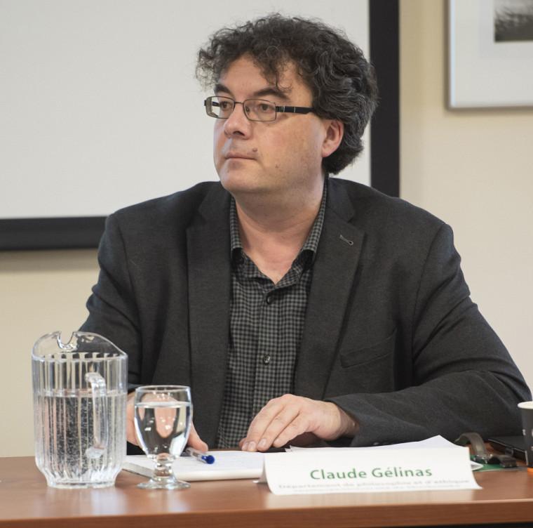 Claude Gélinas, lors d'un séminaire tenu en mars 2020.