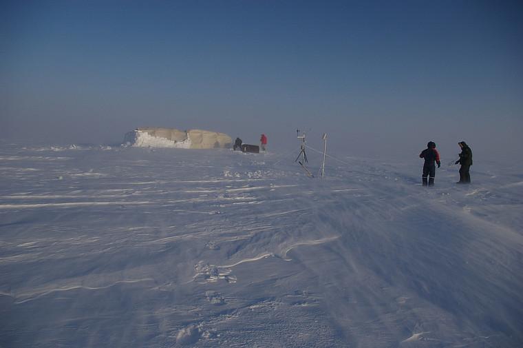 Calotte glaciaire Barnes en Arctique