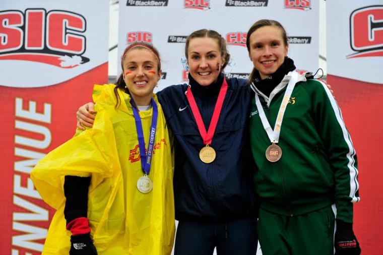 Valérie Bélanger est la première athlète féminine du Vert & Or à monter sur le podium au championnat canadien universitaire de cross-country.