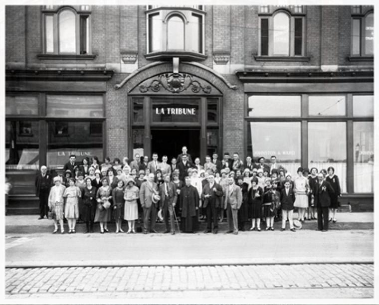 Employés du journal, La Tribune, 1928
