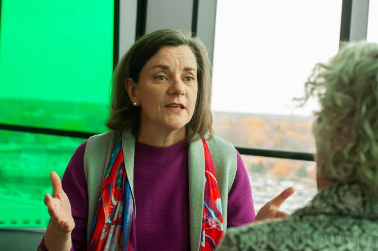 Marie-José Durand, professeure-chercheuse à la Faculté de médecine et des sciences de la santé et chercheuse au Centre de recherche Charles-Le Moyne – Saguenay–Lac-Saint-Jean sur les innovations en santé (CR-CSIS).