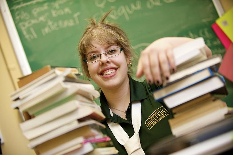 Valérie Morin, l'une des organisatrices de la Foire du livre qui aura lieu les 22et 23mars à la Faculté d'éducation.