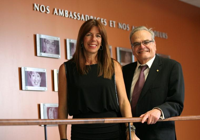Renée Bergeron, ambassadrice 2013 de la Faculté des sciences, et Serge Jandl, doyen