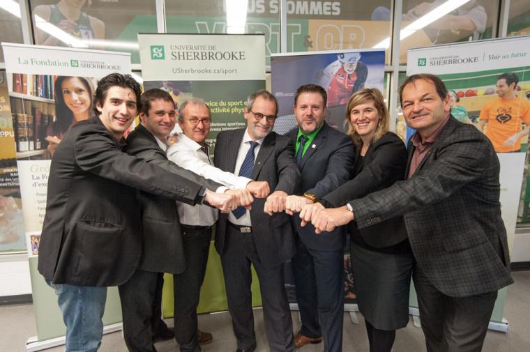 Les partenaires d'Excellence Sportive Sherbrooke et de l'Université de Sherbrooke soutiendront les athlètes et les entraîneurs de haut niveau de la région de l'Estrie en leur offrant des services d'appui et d'encadrement.