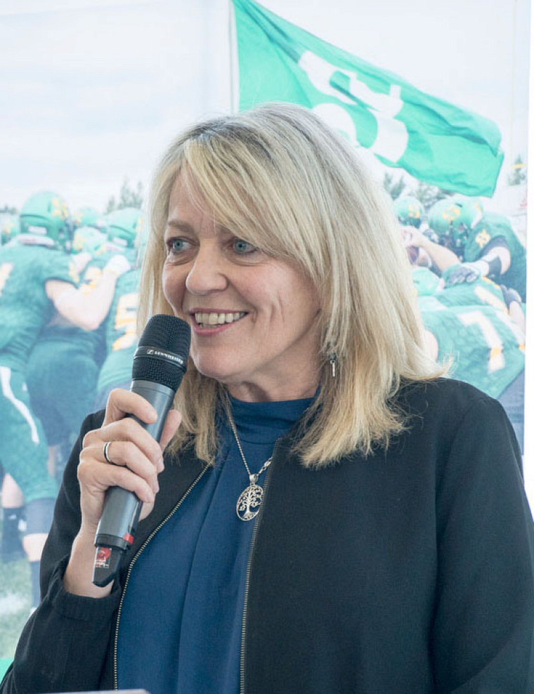 La vice-rectrice à l'administration et au développement durable de l'UdeS, professeure Denyse Rémillard.