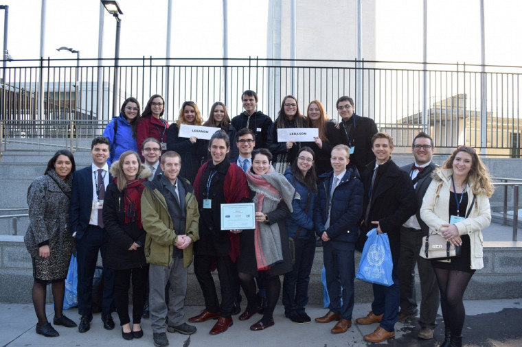 La délégation de l'Université de Sherbrooke au National Model United Nations New York 2017