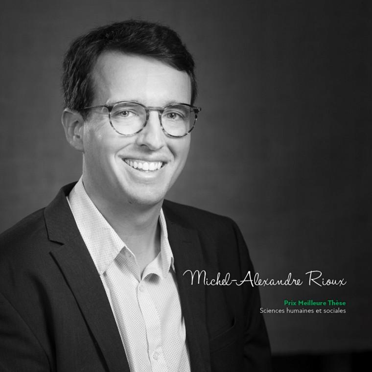 Michel-Alexandre Rioux, du Département de psychologie, remporte le Prix de la meilleure thèse de doctorat dans la catégorie Sciences humaines et sociales.