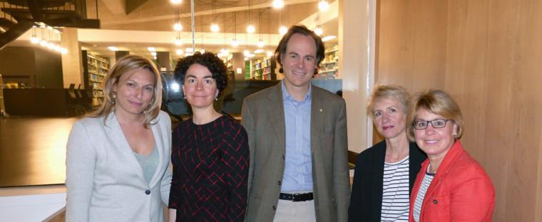 Geneviève Dufour, Marie-Pierre Robert, Sébastien Lebel-Grenier, Caroline Asfar-Cazenave et Éliane-Marie Gaulin
