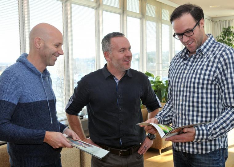 Pr David Fortin, M. David Lachance, directeur général des Entreprises Lachance, et Pr Maxime Descôteaux