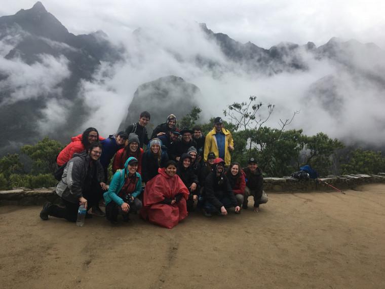 Dans les brumes du Machu Picchu.