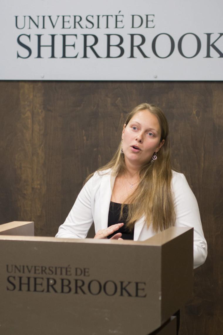 Farah Lizotte, étudiante en biochimie de la santé.