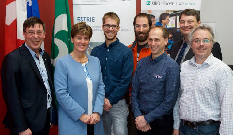 L'annonce a été faite à Sherbrooke en présence de l'honorable Marie-Claude Bibeau, ministre du Développement international et de la Francophonie, de chercheurs et de partenaires du 3IT.