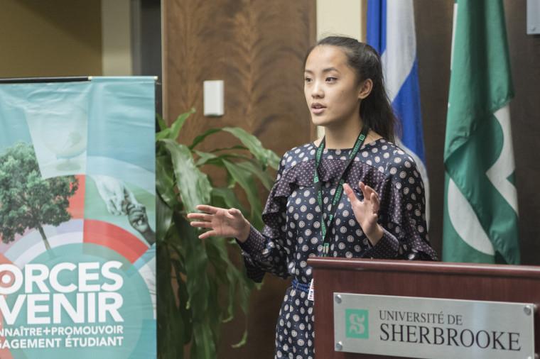 Anne-Lou McNeil-Gauthier du Programme de stages à l'international et de formation prédépart du SCOI, catégorie Santé.
