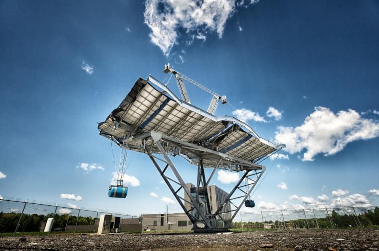 Le concentrateur solaire érigé près du 3IT