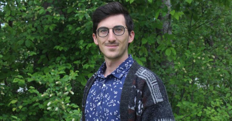 Joël Simoneau, étudiant à la maîtrise en biochimie.