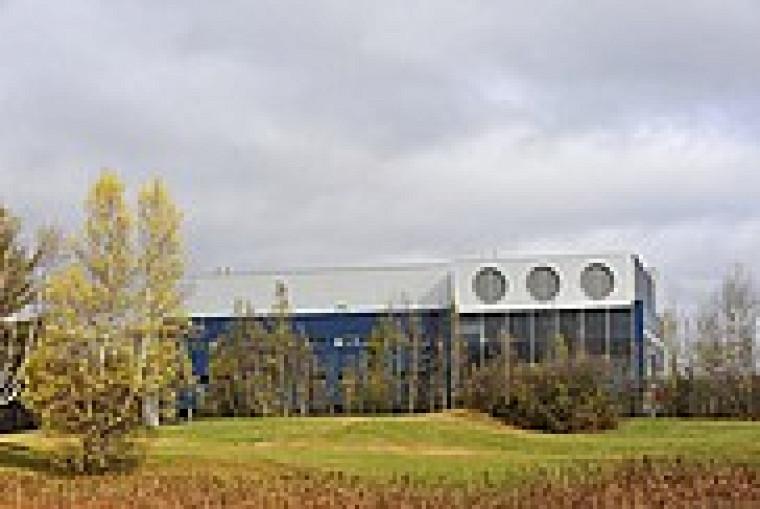 L'édifice abritant le Pavillon de recherche appliquée sur le cancer.