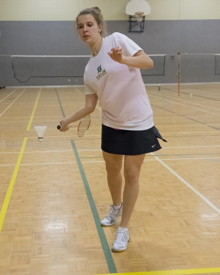 Morgane Devisse et ses coéquipières et coéquipiers de l'équipe de badminton Vert&Or ont participé le 25janvier au dernier tournoi de la saison régulière du RSEQ, au Cepsum de l'Université de Montréal.