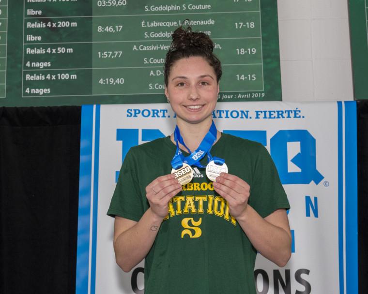 Marie-Laurence Godin, la double médaillée d'or du Vert & Or.
