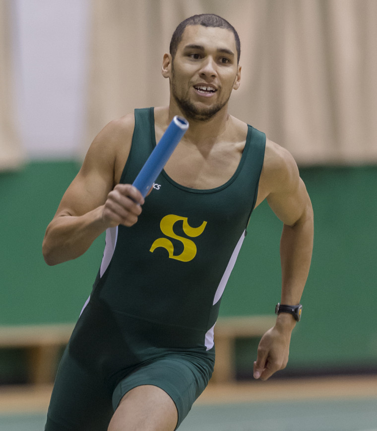 Brandon Smith-Drouin en pleine action au relais.