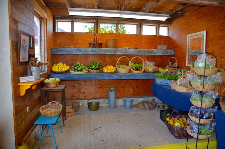 Voici une section du marché fermier