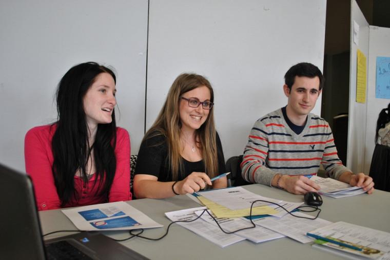 Stéphanie Bergeron, Kristelle St-Louis Roy et Charles-Éric Pharand