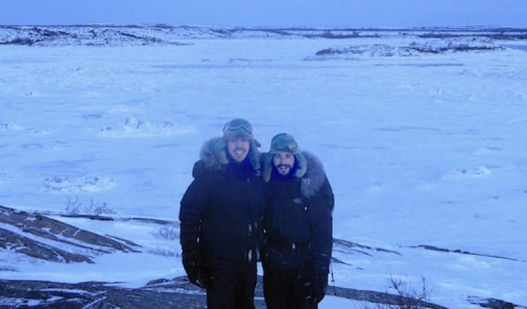 Guillaume Rivard et Benjamin Pandev-Girard sont en stage au Nunavik jusqu'à la mi-mars.