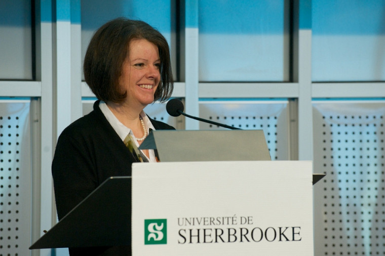 La vice-rectrice aux études, Lucie Laflamme, a commenté les réponses de quelques étudiants à la question«Dans 10ans, ça ressemblera à quoi faire des études universitaires?».
