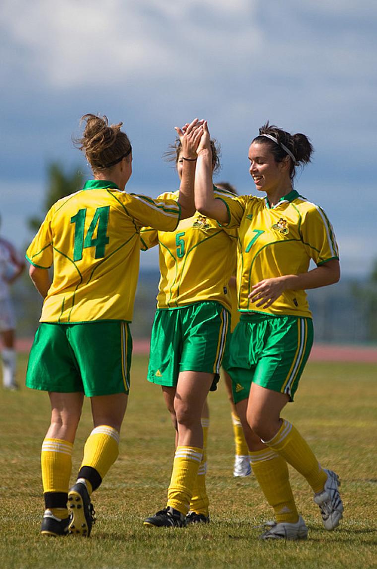 Les Sherbrookoises ont souvent eu l'occasion de célébrer durant le match les opposant aux Citadins de l'UQAM.
