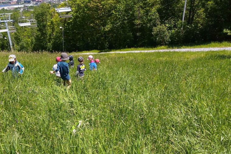 Le parc du Mont-Bellevue est, depuis 30ans, l'un des terrains de jeux des tout-petits et toutes-petites du CPE.