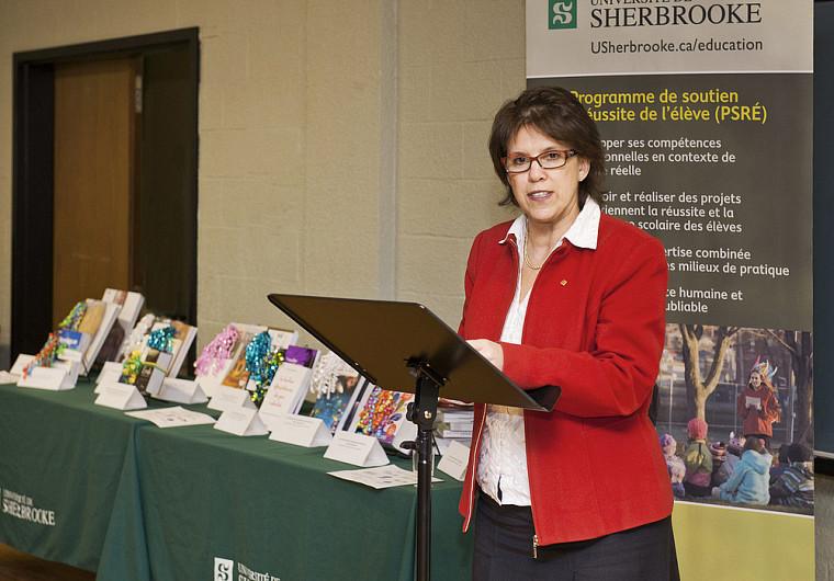La professeure Luce Samoisette, rectrice de l'Université de Sherbrooke.