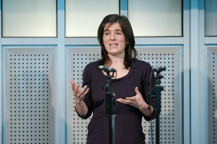 Lisa Lahens a reçu le Prix du public, une gracieuseté du Service d'appui à la recherche, à l'innovation et à la création (SARIC).
