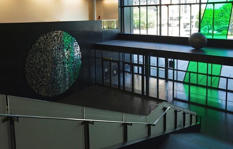 L'œuvre de Michel Goulet, Un monde en soi, au Campus de Longueuil.