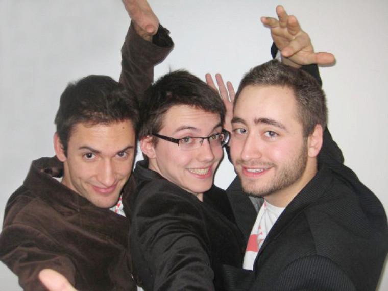 « Les Mononcs », trio d'animateurs bien connu des auditeurs de CFAK.