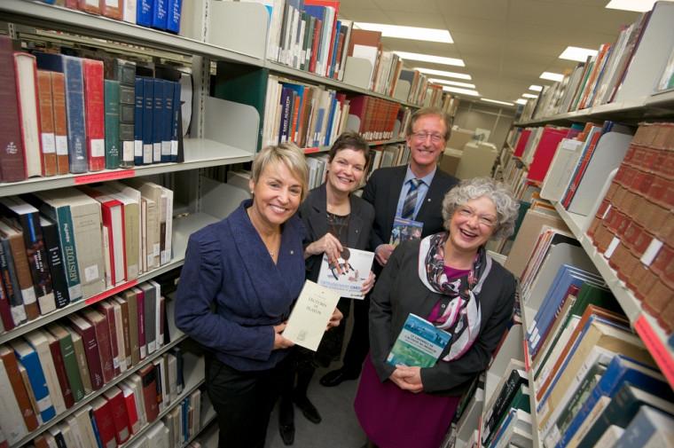 Sylvie Bernier, Sylvie Belzile, François Dubé et Jocelyne Faucher témoignent de l'importance du programme Parents Bibliothèques.