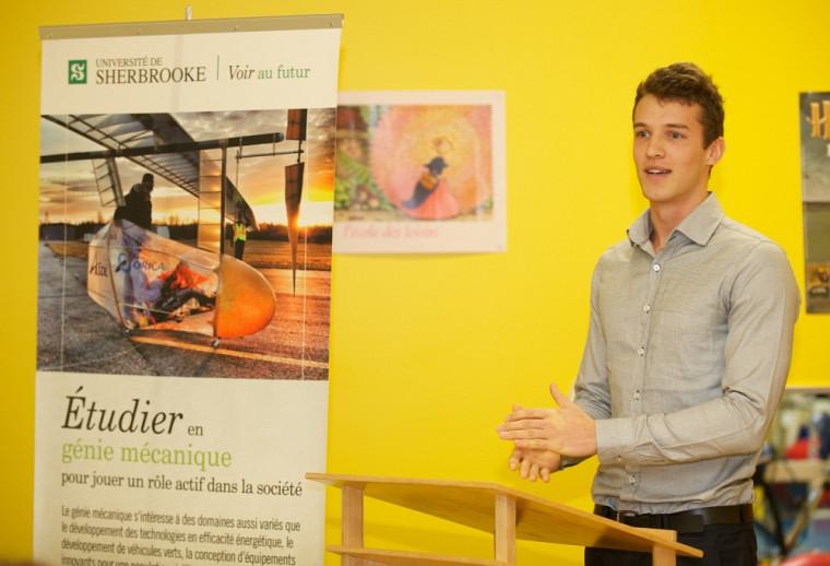 Dominic Dubé, étudiant au baccalauréat en génie mécaniqu
