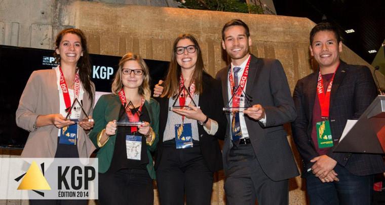 L'équipe gagnante dans la catégorie 2e cycle composée d'Émilie Forget,Marie Claire Forget,Karelle GagnonandPierre-Luc Bourdeau, fiers représentants de la Faculté d'administration de l'Université de Sherbrooke.