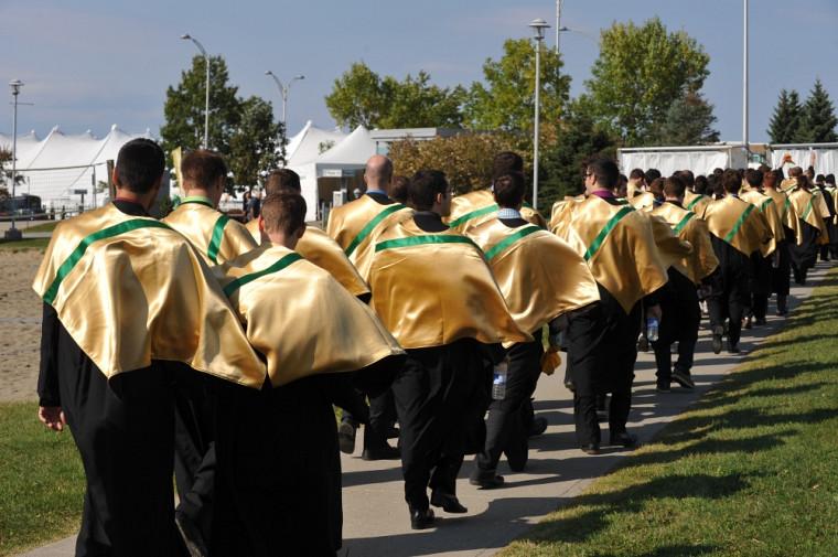 Les cérémonies facultaires se déroulaient en différents lieux du Campus principal.