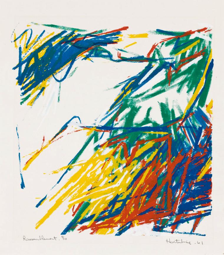 Jacques Hurtubise, Rassemblement, 1961, sérigraphie, 63x51cm.