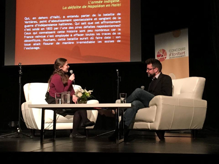 Le professeur Jean-Pierre Le Glaunec, le 22 novembre dernier, lors de la soirée de dévoilement du Grand Prix du livre de la Ville de Sherbrooke 2016.