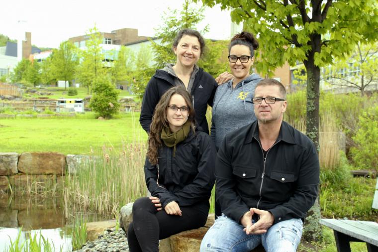 Liette Beloin, Karine Pincinse, Audrey Guy et Sylvain Bourque (de gauche à droite à partir du haut)