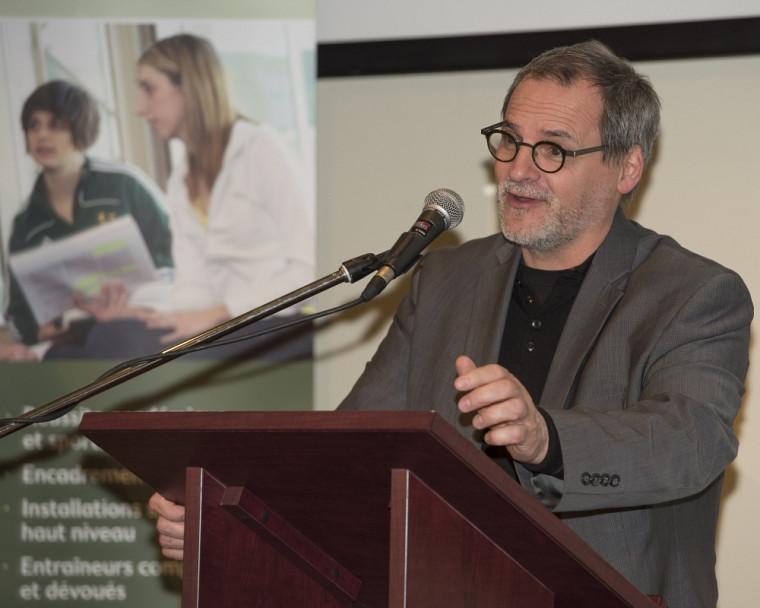 Alain Webster, vice-recteur aux relations gouvernementales, au développement durable et au Campus de Longueuil à l'UdeS.