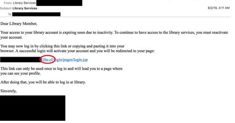 Exemple de courriels d'hameçonnage envoyés par un groupe de pirates informatiques. Source : Secureworks